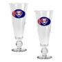 2pc Pilsner Glass Set with Baseball on Stem
