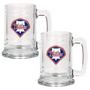 2pc 15oz Glass Tankard Set