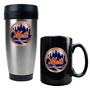 Travel Tumbler & Black Ceramic Mug Set
