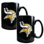 2pc Black Ceramic Mug Set