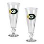 2pc Pilsner Glass Set with Football on stem