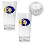 2pc Pint Ale Glass Set with Football Bottom