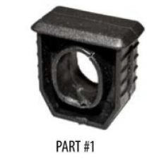 Part #01 - the black, plastic, snap-in cap for beam ends