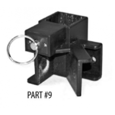 Part #9 - Black, sliding leg, joint connector, and metal o-ring lock